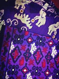 motif Lampung yang khas dengan gajah dan sigernya...