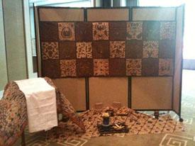 Our Batik Corner, during the Indonesian Diplomatic Reception, Intercontinental Hotel, Geenve, Switzerland...