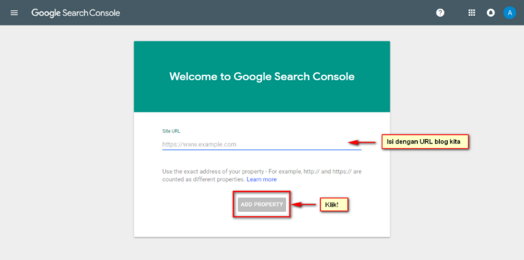 Google Search Console - welcome