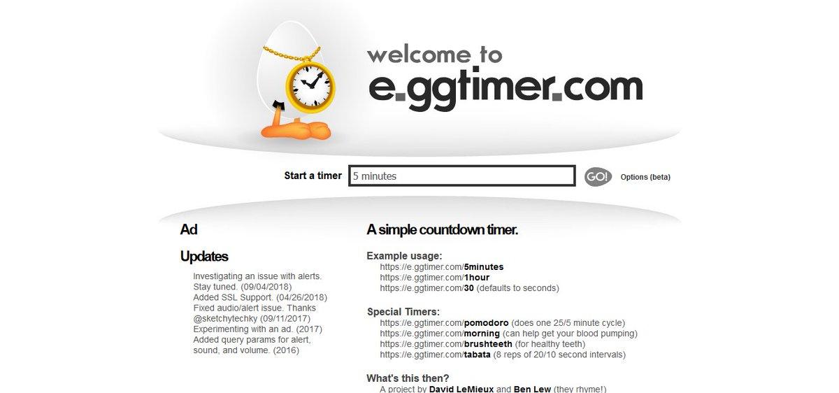 Tool meningkatkan produktivitas - eggtimer