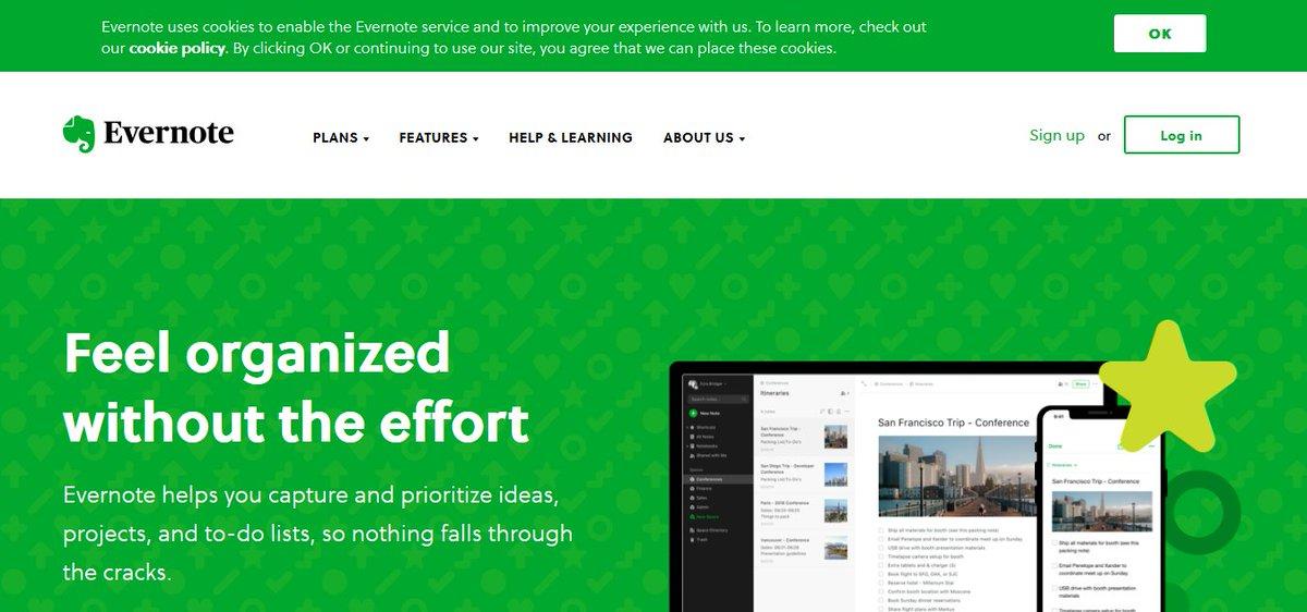 tool meningkatkan produktivitas - evernote