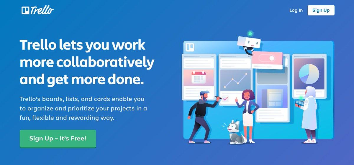 tool meningkatkan produktivitas - trello
