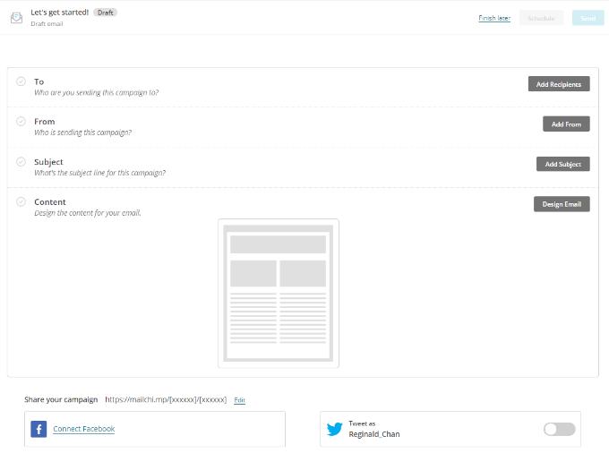 Memanfaatkan Mailchimp - membuat desain newsletter